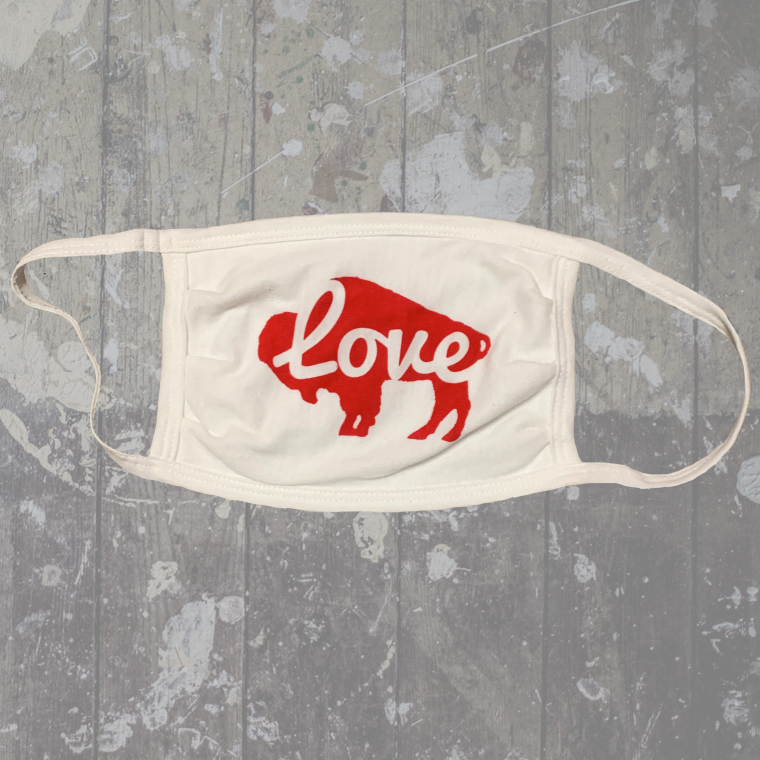 Buffalo Love White Mask-$6.50