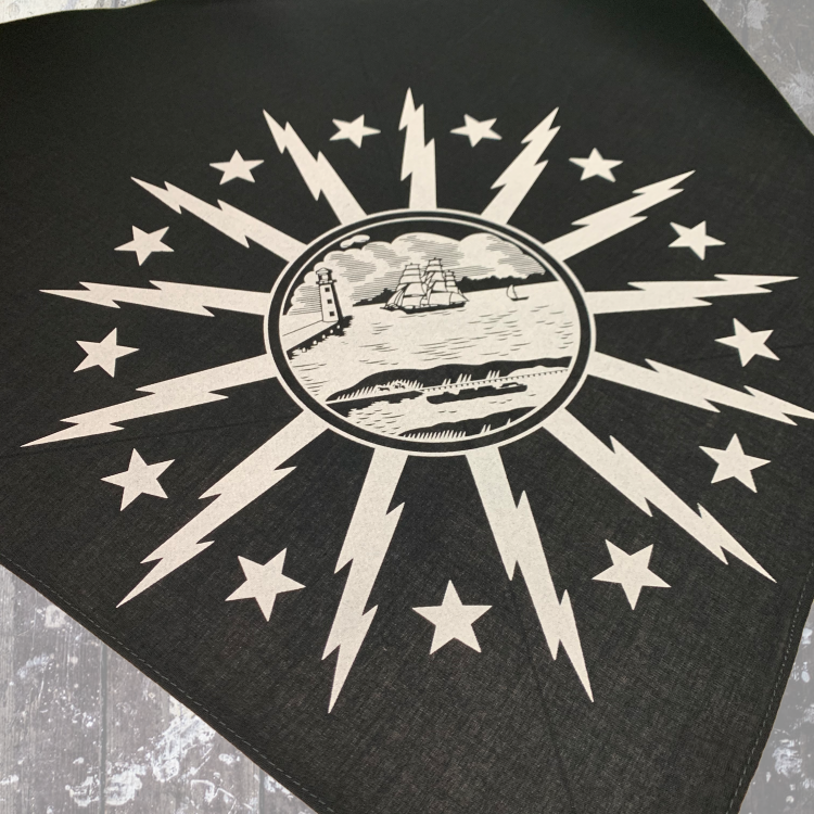 Buffalo Seal Bandana-Black $9.00