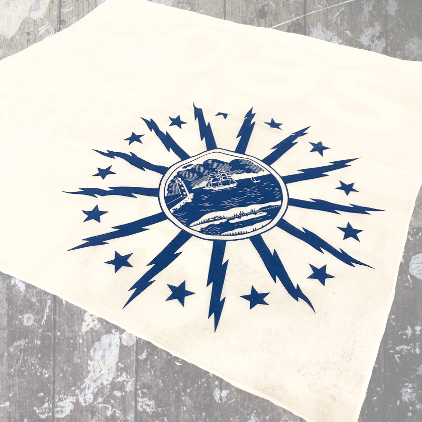 Buffalo Seal Bandana-White $9.00
